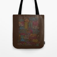home sweet home Tote Bags featuring Home Sweet Home by Rick Crane