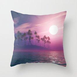 Palm tree island #ocean Throw Pillow