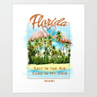 florida Art Prints featuring Florida by Omer Bintas