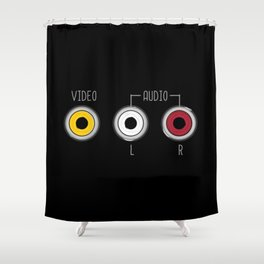 Plug in your mood! (Music + Video) Shower Curtain