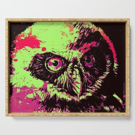 Rainbow Spectacled Owl Serving Tray