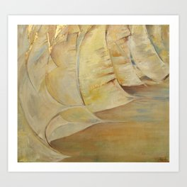 Summer Sails Abstract painting inspired by Sailing Oil painting with gold leafs Art Print
