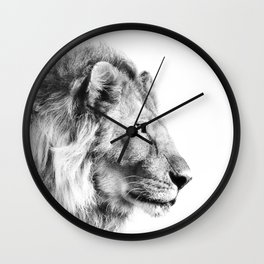 Lion Print Wall Clock