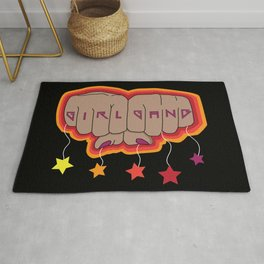 Girl Gang Star Fists Feminist Design Rug