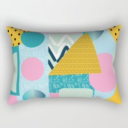 Collage Fun Retro Popping Art Remix Pattern Rectangular Pillow