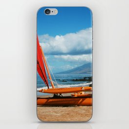 Hina Wāʻapea Sailing Canoe  Polo Beach Wailea Maui Hawaii iPhone Skin