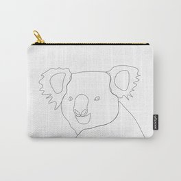 Koala - Minimal line drawing Carry-All Pouch
