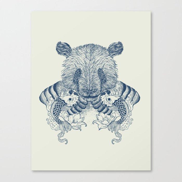 Panda Tattoo Canvas Print