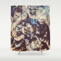 agate Shower Curtains featuring Agate Crystals  by Elena Kulikova
