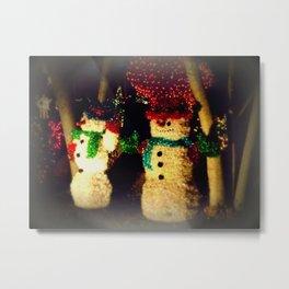 Christmas Snowmen Metal Print
