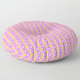 Tourmaline Gemstone with Gold Accent Pattern Floor Pillow