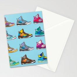 Colorful Sneaker set illustration blue illustration original pop art graphic print Stationery Cards