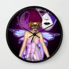 Queen of Fantasy and Mischief .. fantasy Wall Clock