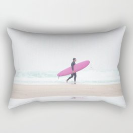 surfing beach vibes Rectangular Pillow