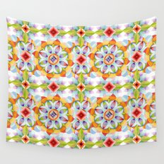 Flower Garden Kaleidoscope Wall Tapestry