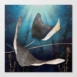 Metallic Stingray Canvas Print