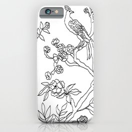 Color Your Own Chinoiserie Panels 3-4 Contour Lines - Casart Scenoiserie Collection iPhone Case