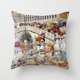 Maurice Brazil Prendergast - Umbrellas In The Rain - Digital Remastered Edition Throw Pillow