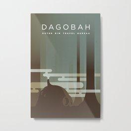 Outer Rim Travel Bureau: Dagobah Metal Print