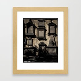 Wall of the Dead Framed Art Print