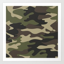 military camouflage-4k Art Print