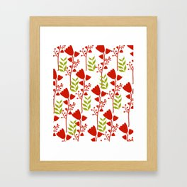 Red Blossom Framed Art Print