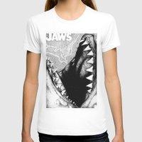 jaws T-shirts featuring Jaws by Sinpiggyhead