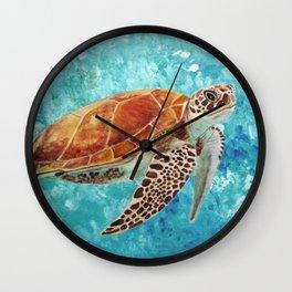 Turtle Swimming Wall Clock