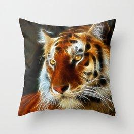 Tiger 3d artworks Throw Pillow