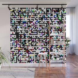 Abstract 8 Bit Pattern Wall Mural