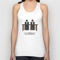 movie poster Tank Tops featuring Scanners - Altenative Movie Poster by maclac