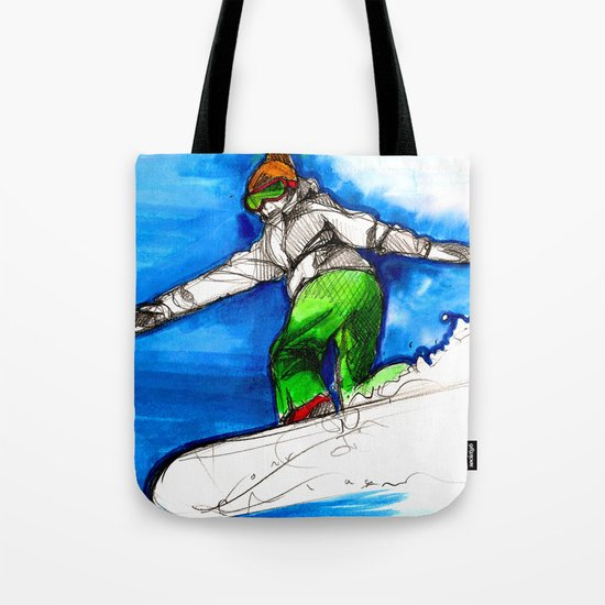 Snowboarder girl Tote Bag