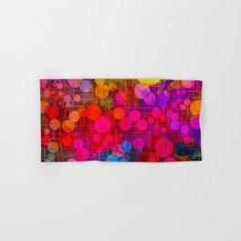 Rainbow Bubbles Abstract Design Hand & Bath Towel