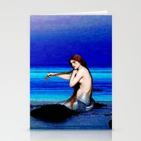 pisces Stationery Cards featuring Pisces by Danielle Tanimura