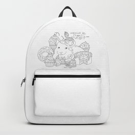 Chinchilla and cupcake Backpack