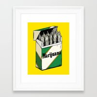 marijuana Framed Art Prints featuring Mainstream Marijuana by Kelsey Dake