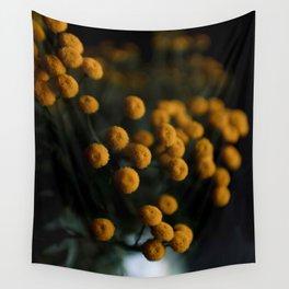 mustard yellow flowers Wall Tapestry