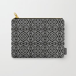 Lattice Grey Carry-All Pouch