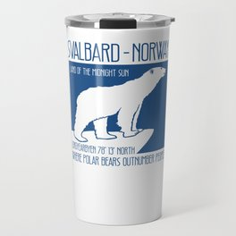 Svalbard Norway Arctic Polar Bear T-Shirt Longyearbyen Spitsbergen Northern Lights Travel Mug