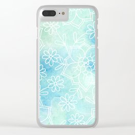 Watercolour abstract floral 2 Clear iPhone Case