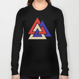 Viking American Heathen 4th of July Valknut Long Sleeve T-shirt