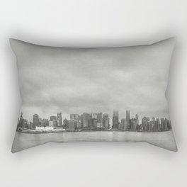 Vancouver Raincity Series - Raincity i - Moody Downtown Vancouver Cityscape Rectangular Pillow
