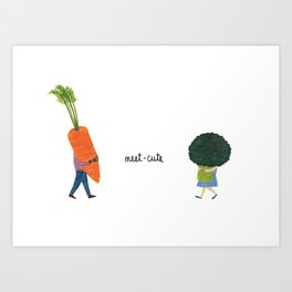 Meet Cute Art Print