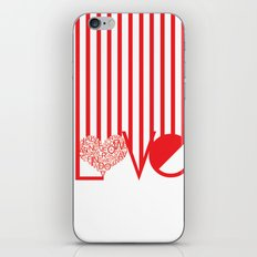 Love Typography iPhone & iPod Skin