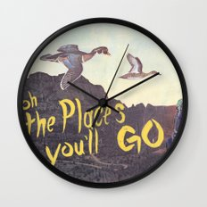 Oh the places  you'll go Wall Clock