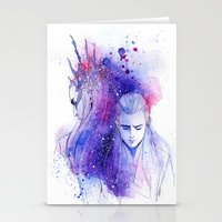 legolas Stationery Cards featuring Thranduil and Legolas by Kinko-White