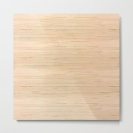 Pine Light Wood Metal Print