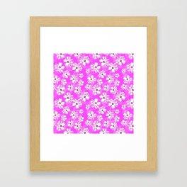Purple Hawaiian Hibiscus Flowers Framed Art Print