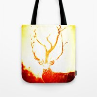 stag Tote Bags featuring STAG by Chrisb Marquez