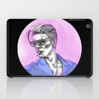 bowie iPad Cases featuring Bowie  by Lucy Schmidt Art